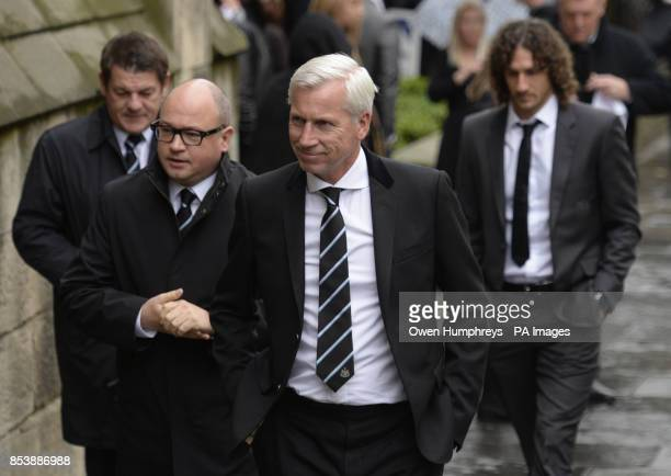 Newcastle United assistant manager John Carver Newcastle United managing director Lee Charnley and manager Alan Pardew followed by club captain...