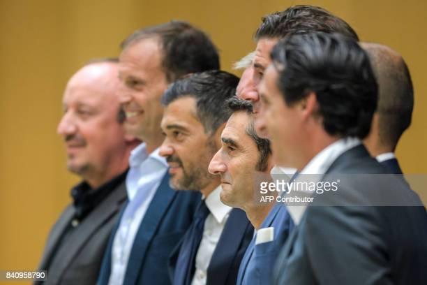 Newcastle United FC coach Rafael Benitez Juventus coach Massimiliano Allegri FC Porto coach Sergio Conceicao Barcelona FC coach Ernesto Valverde...