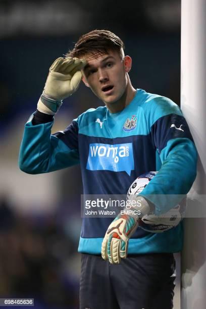Newcastle United goalkeeper Freddie Woodman during the warm up