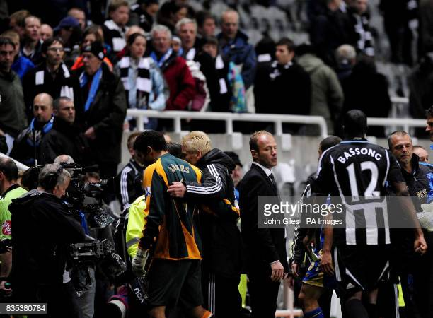 Newcastle United Manager Alan Shearer at the end of the game after the Barclays Premier League match at St James' Park Newcastle