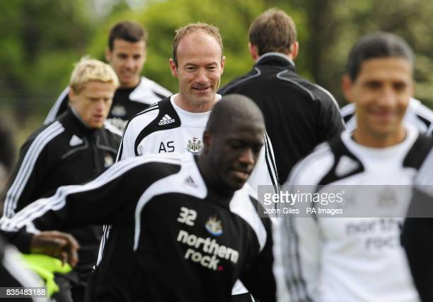 Newcastle United manager Alan Shearer during the training session at Longbenton Newcastle