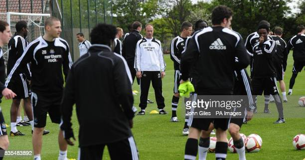 Newcastle United Manager Alan Shearer looks on during the training session at Longbenton Newcastle