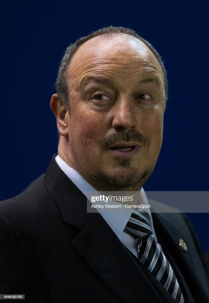 Newcastle United manager Rafa Benitez before the Sky Bet Championship match between Brighton & Hove Albion and Newcastle United at Amex Stadium on February 28, 2017 in Brighton, England.