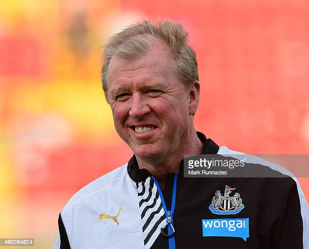 Newcastle United manager Steve McClaren watches on during the pre season friendly between Gateshead and Newcastle United at Gateshead International...