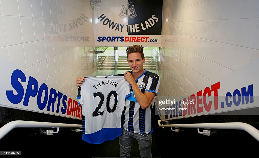 Newcastle United new signing <a gi-track='captionPersonalityLinkClicked' href=/galleries/search?phrase=Florian+Thauvin&family=editorial&specificpeople=9157453 ng-click='$event.stopPropagation()'>Florian Thauvin</a> pictured at St James' Park on August 19, 2015 in Newcastle, England.
