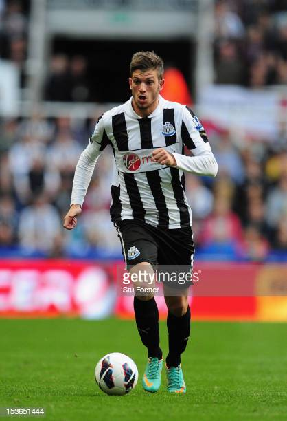 Newcastle United player Davide Santon in action during the Barclays Premier league game between Newcastle United and Manchester United at Sports...