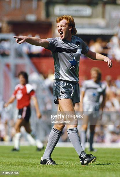Newcastle United player Gary Megson reacts during a League Division One match between Southampton and Newcastle United at the Dell on August 17 1985...