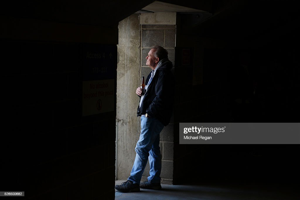 Newcastle United supporter is seen prior to the Barclays Premier League match between Newcastle United and Crystal Palace at St James' Park on April 30, 2016 in Newcastle upon Tyne, England.