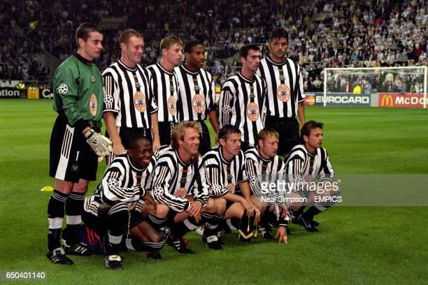 Newcastle United team group Shay Given Steve Watson Jon Dahl Tomasson John Barnes Keith Gillespie and Philippe Albert Faustino Asprilla Warren Barton...