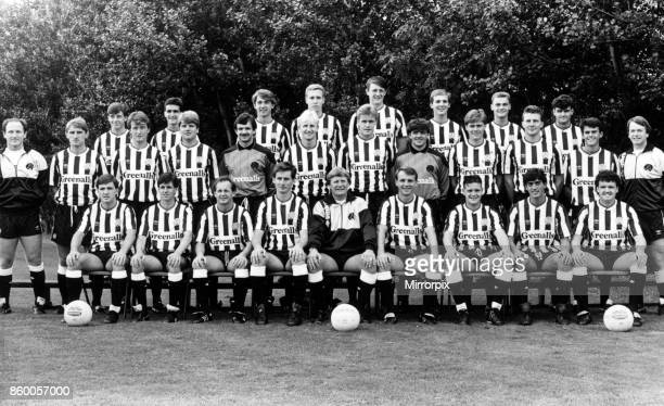 Newcastle United team pictured at Benwell today Back row Tony Nesbit Kevin Caizley Chris Hutchinson Brian Tinnion Paul Watson Phil Coxall Michael...