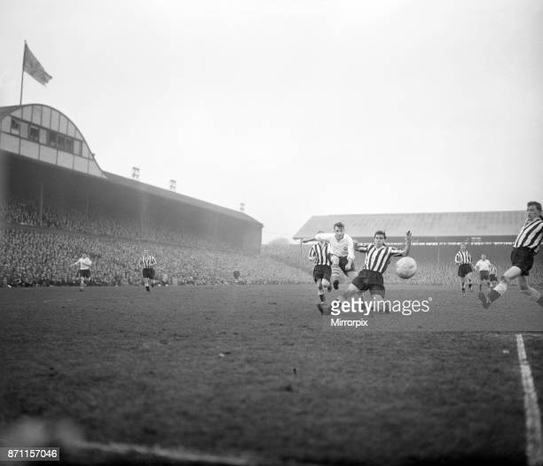 Newcastle United v Preston North End St James' Park 9th February 1957