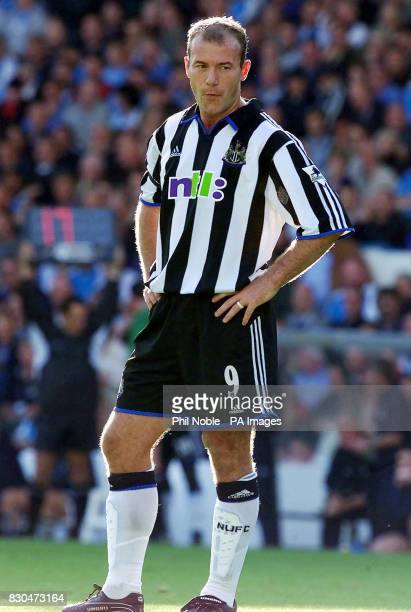 LEAGUE Newcastle United's Alan Shearer during the FA Premiership match against Manchester City at Maine Road Final Score Man City 0 Newcastle 1...