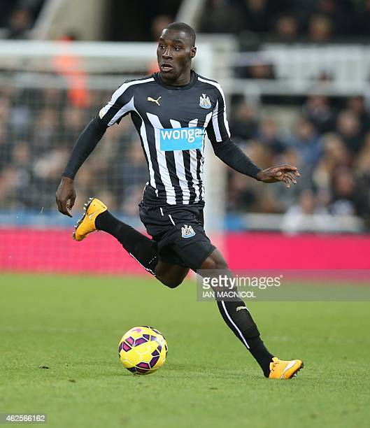 Newcastle United's French defender Massadio Haidara runs with the ball during the English Premier League football match between Newcastle United and...
