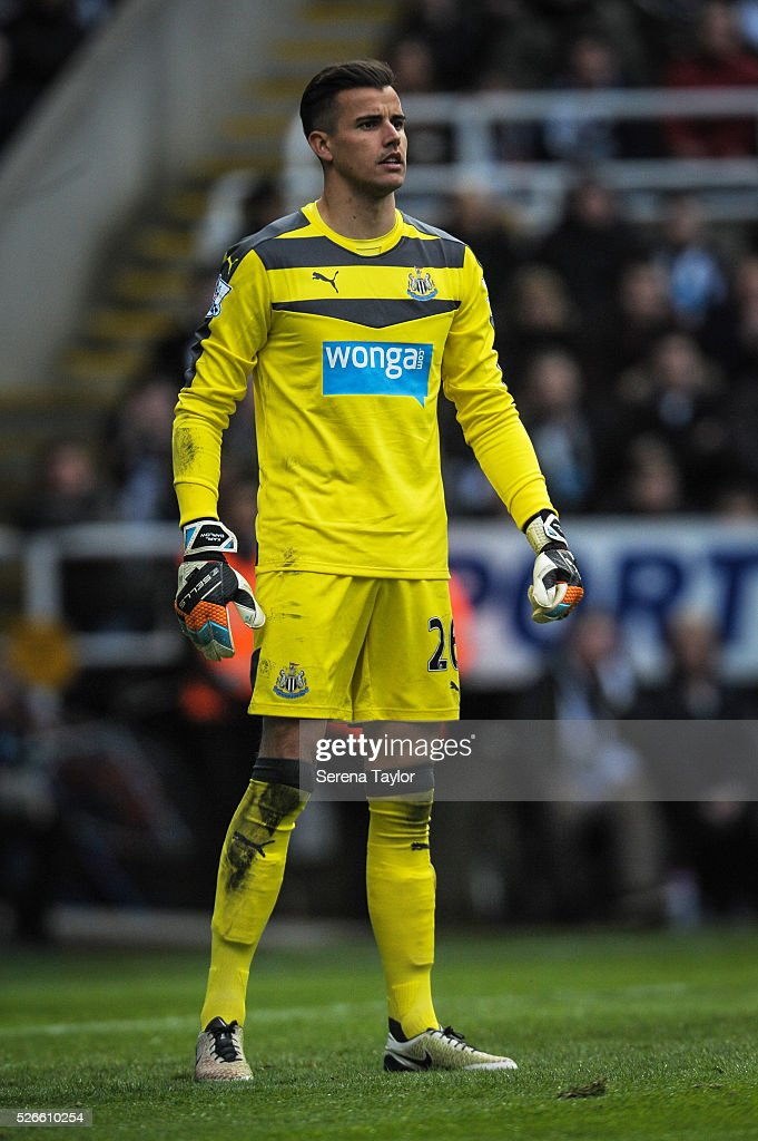 Newcastle United's Goalkeeper Karl Darlow during the Barclays Premier League match between Newcastle United and Crystal Palace at St.James' Park on April 30, 2016, in Newcastle upon Tyne, England.