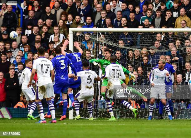 Newcastle United's Goalkeeper Karl Darlow shouts as the ball fly's towards goal during the Sky Bet Championship match between Birmingham City and...