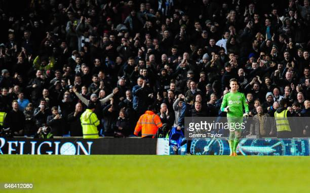 Newcastle United's Goalkeeper Karl Darlow smiles as Newcastle win the Sky Bet Championship Match between Brighton Hove Albion and Newcastle United at...