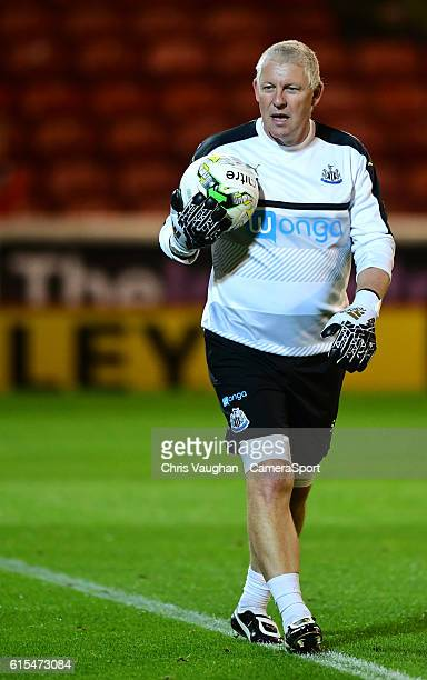 Newcastle Uniteds goalkeeping coach Simon Smith during the prematch warmup before the Sky Bet Championship match between Barnsley and Newcastle...