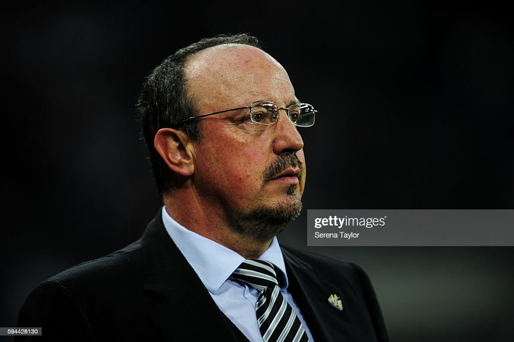Newcastle United's Manager Rafael Benitez during the EFL cup between Newcastle United and Cheltenham Town at StJames' Park on August 23 in Newcastle...
