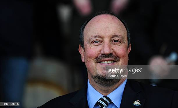 Newcastle United's Manager Rafael Benitez during the Sky Bet Championship match between Burton Albion and Newcastle United at the Pirelli Stadium on...