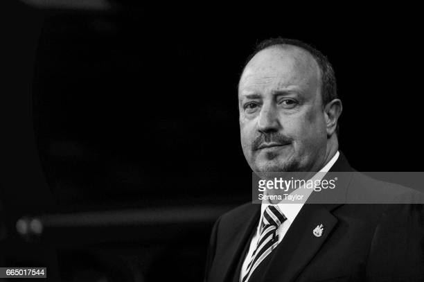 Newcastle Unitedâs Manager Rafael Benitez during the Sky Bet Championship Match between Newcastle United and Burton Albion at StJames' Park on April...