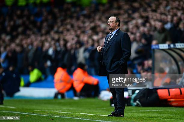 Newcastle Unitedâs Manager Rafael Benitez stands on the sideline during the Sky Bet Championship Match between Leeds United and Newcastle United at...