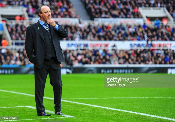 Newcastle United's Manager Rafael Benitez stands on the sidelines during the Premier League match between Newcastle United and Crystal Palace at...