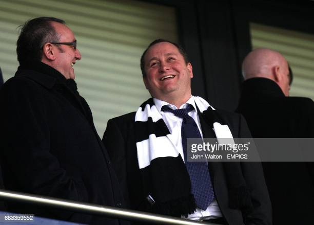 Newcastle United's owner Mike Ashley and chairman Derek Llambias in the stands