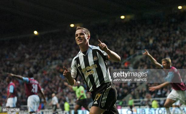 Newcastle United's Scott Parker celebrates his teams first goal of the game