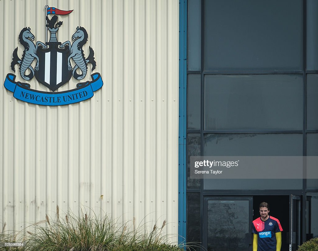 Newcastle's goalkeeper <a gi-track='captionPersonalityLinkClicked' href=/galleries/search?phrase=Tim+Krul&family=editorial&specificpeople=618004 ng-click='$event.stopPropagation()'>Tim Krul</a> looks out from the doors during the Newcastle United Training session at The Newcastle United Training Centre on May 6, 2016, in Newcastle upon Tyne, England.