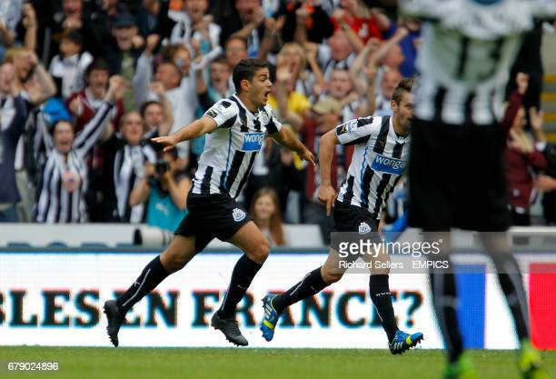 Newcastle's Hatem Ben Arfa celebrates scoring his teams first goal of the game
