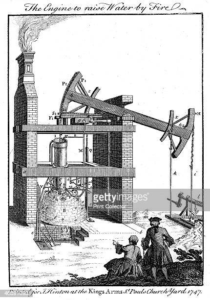 Newcomen steam engine 1747 Thomas Newcomen designed his atmospheric or 'steam' engine in 1712 Water was heated in the boiler and the resulting steam...