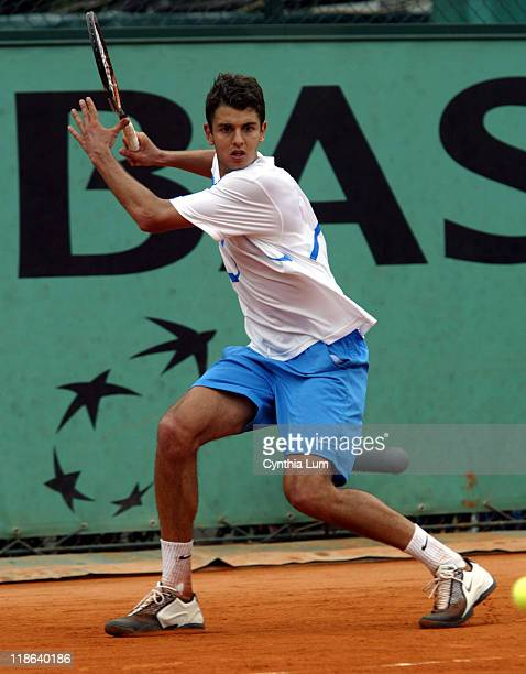Newcomer Mario Ancic defeated Mariano Zabaleta 63 64 36 64 in the second round at the 2004 French Open May 25 2004