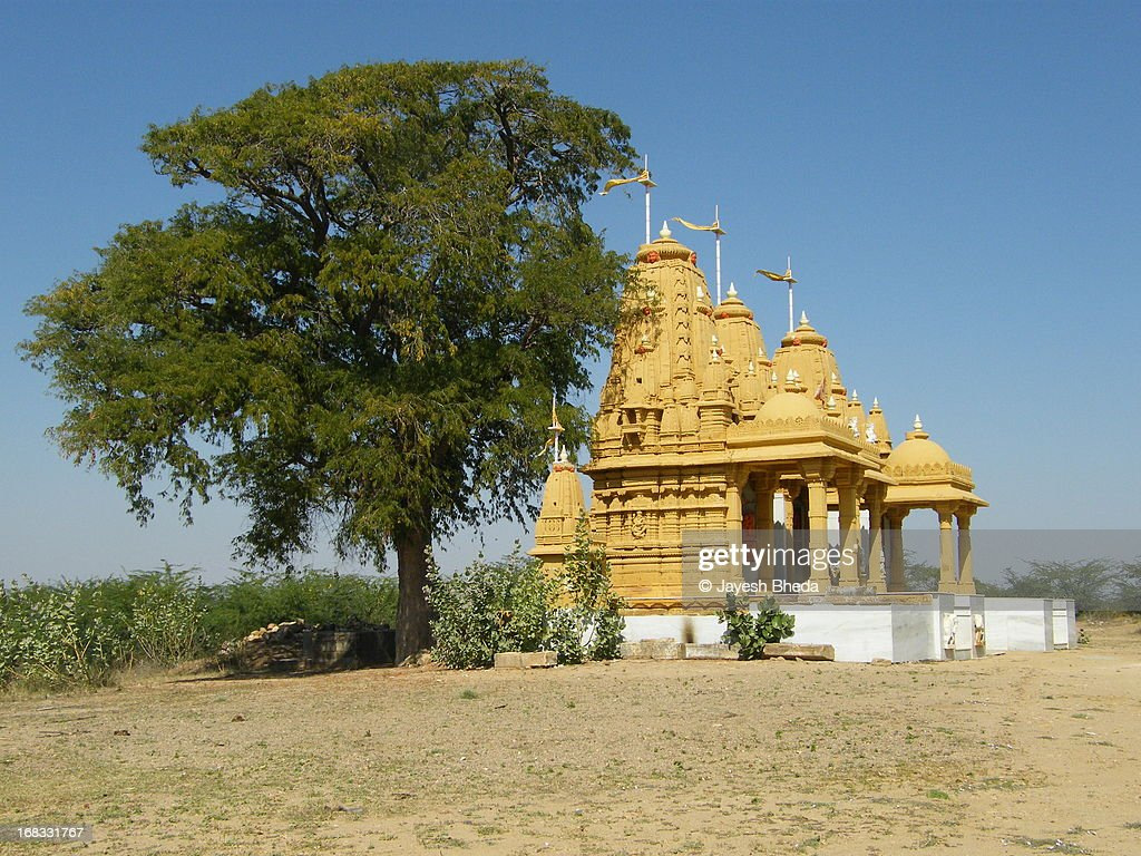 Newely built Temple at viilage Tera, Kachchh : Stock Photo