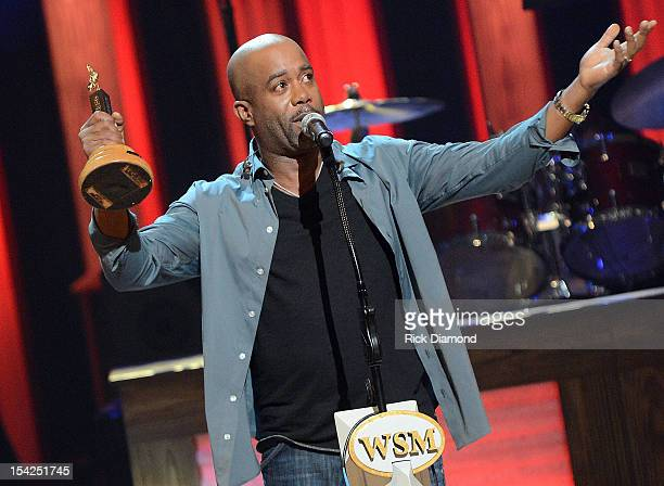 Newest member of the Grand Ole Opry Darius Rucker's gets emotional during his induction into The Grand Ole Opry on October 16 2012 in Nashville...