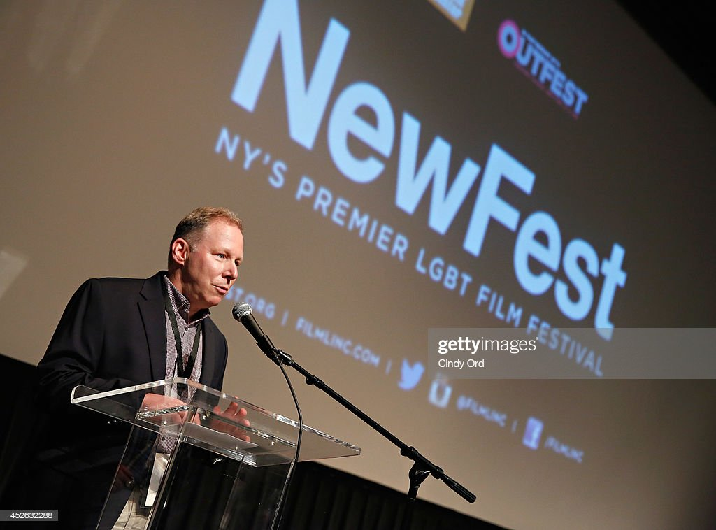 NewFest Board Co-President Steve Mendelsohn attends the 'Futuro Beach' Opening Night Screening - 2014 Newfest at The Film Society of Lincoln Center, Walter Reade Theatre on July 24, 2014 in New York City.