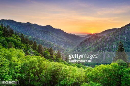 Newfound Gap in the Smoky Mountains : Stock Photo
