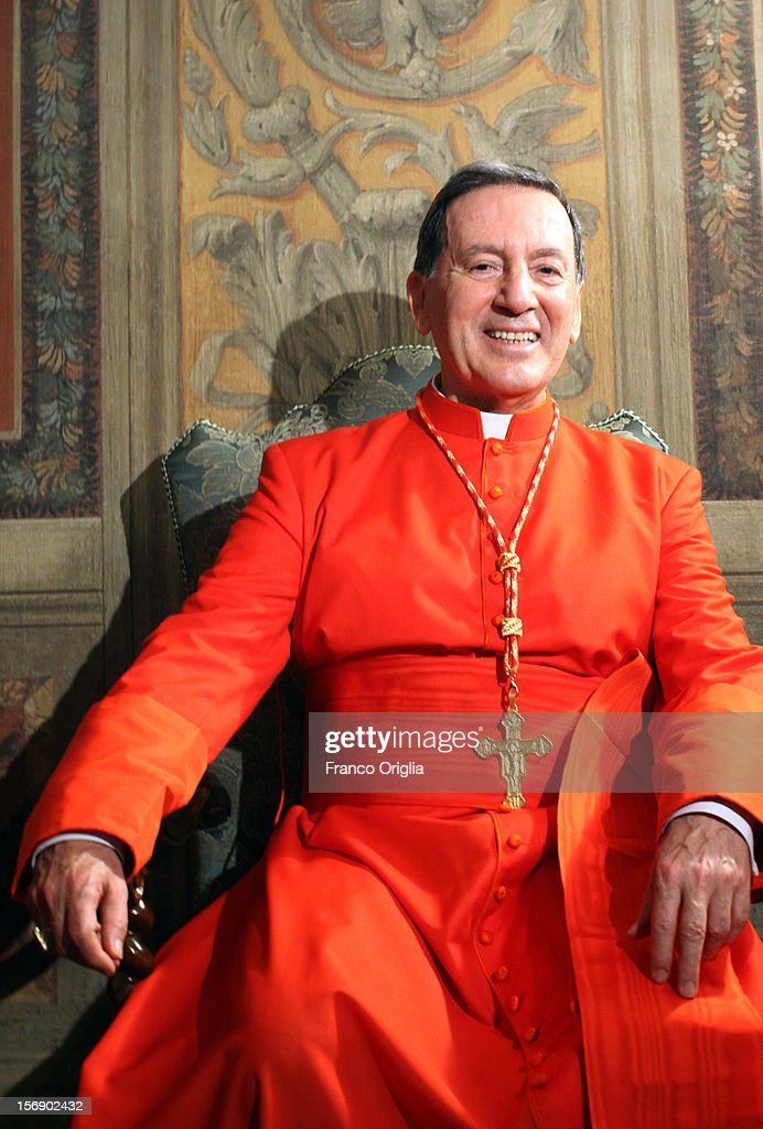 Newly appointed cardinal Ruben Salazar Gomez, archbishop of Bogota, poses during the courtesy visits at the Sala Regia Hall at the end of the concistory held by Pope Benedict XVI on November 24, 2012 in Vatican City, Vatican. The Pontiff installed 6 new cardinals during the ceremony, who will be responsible for choosing his successor.