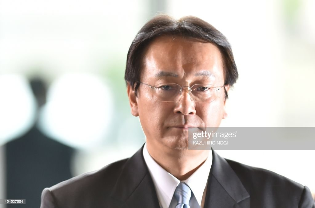 Newly appointed Defence Minister <a gi-track='captionPersonalityLinkClicked' href=/galleries/search?phrase=Akinori+Eto&family=editorial&specificpeople=5129797 ng-click='$event.stopPropagation()'>Akinori Eto</a> arrives at the prime minister's official residence in Tokyo on September 3, 2014. Japanese Prime Minister Shinzo Abe named five women to his new cabinet on September 3, leading by example in a country economists say must make better use of its highly-educated but underemployed women. AFP PHOTO / KAZUHIRO NOGI