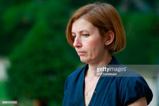 Newly appointed French Defence Minister Florence Parly attends the official handover ceremony at the Hotel de Brienne in Paris on June 21 2017 / AFP...