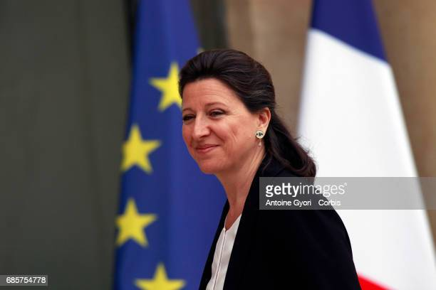 Newly appointed French Health and Solidarity Minister Agnes Buzyn arrives at the Elysee presidential palace for the first weekly cabinet meeting on...