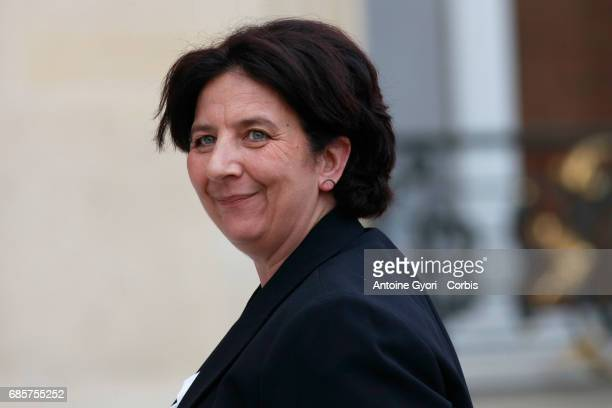 Newly appointed French High Education and research Minister Frederique Vidal arrives at the Elysee presidential palace for the first weekly cabinet...