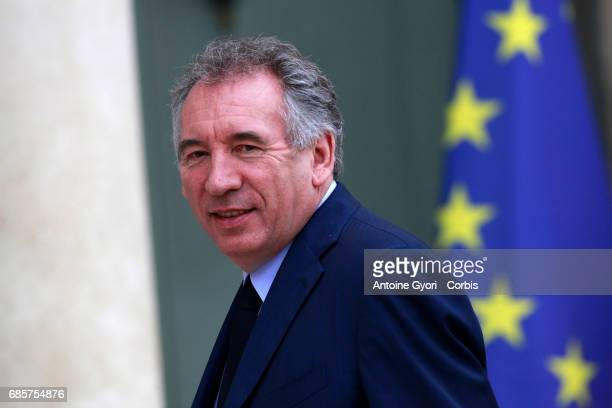 Newly appointed French Justice minister Francois Bayrou arrives at the Elysee presidential palace for the first weekly cabinet meeting on May 18 2017...