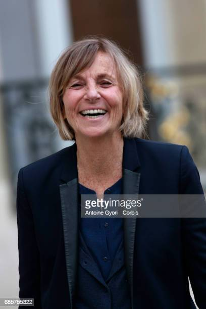 Newly appointed French Minister for European Affairs Marielle de Sarnez arrive at the Elysee presidential palace for the first weekly cabinet meeting...