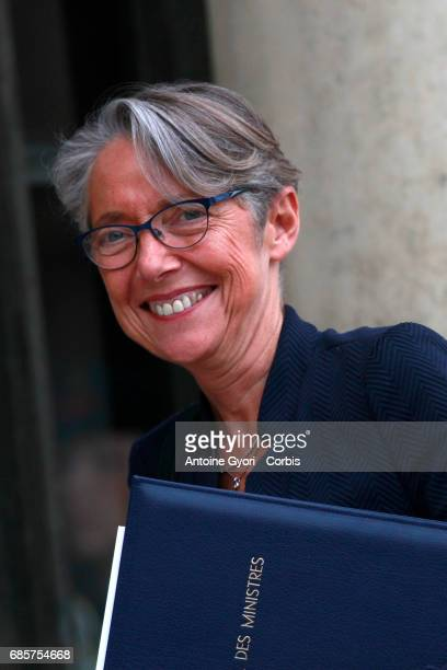 Newly appointed French Minister in charge of Transport Elisabeth Borne arrives at the Elysee presidential palace for the first weekly cabinet meeting...