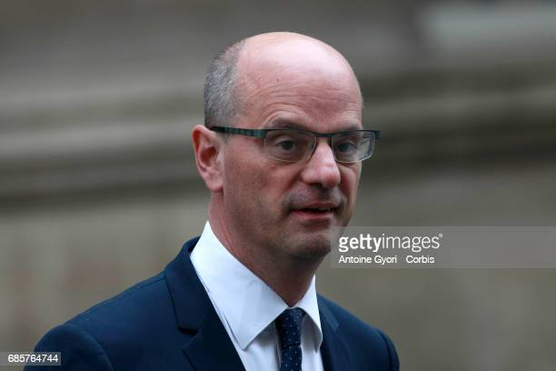 Newly appointed French Minister of National Education JeanMichel Blanquer arrives at the Elysee presidential palace for the first weekly cabinet...