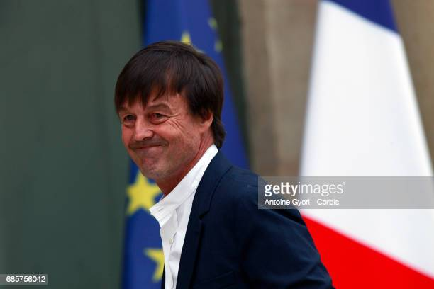 Newly appointed French Minister of the Ecological and Social Transition Nicolas Hulot arrives at the Elysee presidential palace for the first weekly...