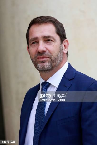 Newly appointed French Secretary of State for Parliamentary Relations and Government Spokesperson Christophe Castaner arrives at the Elysee...