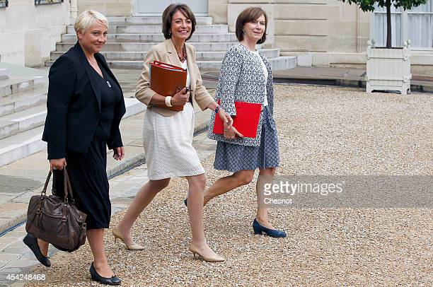 Newly appointed Junior minister for Women's Rights Pascale Boistard Health minister Marisol Touraine and Junior minister for Family matters Laurence...