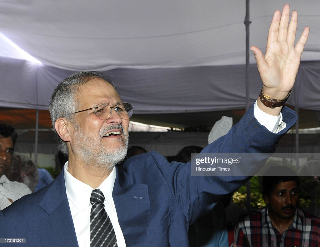Newly appointed Lieutenant Governor of Delhi, Najeeb Jung after taking oath at Raj Bhawan on July 9, 2013 in New Delhi, India. 62-year-old Jung has become the 19th Lt Governor of Delhi. A 1973-batch IAS officer, Jung served in Madhya Pradesh government and at several key positions including as joint secretary in the ministry of Petroleum and Natural gas in Central government.