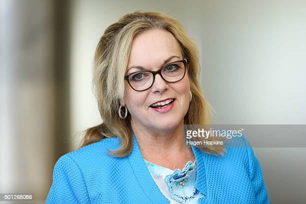 Newly appointed Minister of Corrections Judith Collins looks on during a ceremony for the appointment of a new Minister and the allocation of...